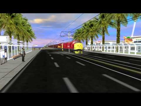 Trainz Spotting on Trainz Metropolis Island Route  