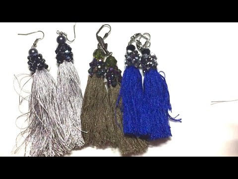 Right  Angle Weave Technique ( RAW ) Earring Tassel