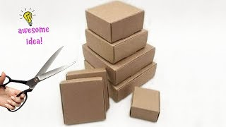 6 BRIGHT WAYS TO REUSE/RECYCLE SMALL EMPTY CARDBOARD BOXES! Best Reuse Ideas Best Reuse Idea