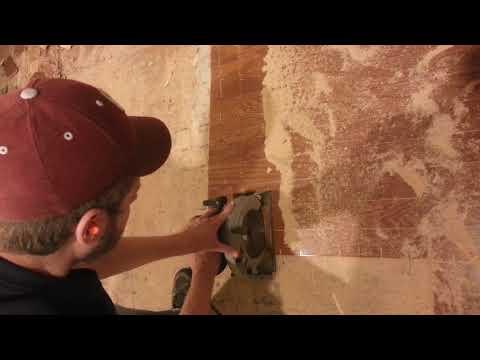 Removing Glue Down Engineered Hardwood Flooring Pt 1