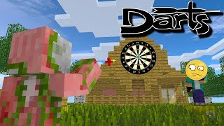 Monster School : Darts Challenge - Minecraft Animations