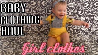 Baby Girl Clothing Haul/ Dear Hayven