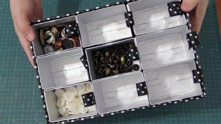 DIY Organizador de miudezas para artesanato ✂️ Artesanato #NãoéCópia mas #PodeCopiar