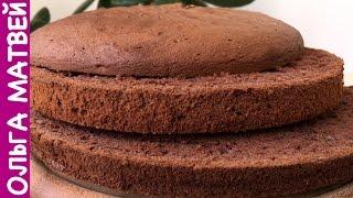 Шоколадный Бисквит (Секреты Приготовления) | Chocolate Sponge Cake, English Subtitles