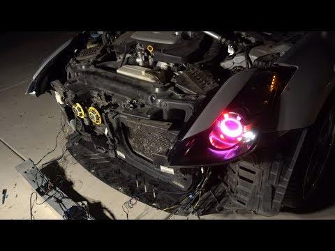 350Z Gets Some Sick Halos+Demon Eyes!!!