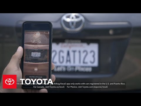 Airbag Recall App Overview | Toyota