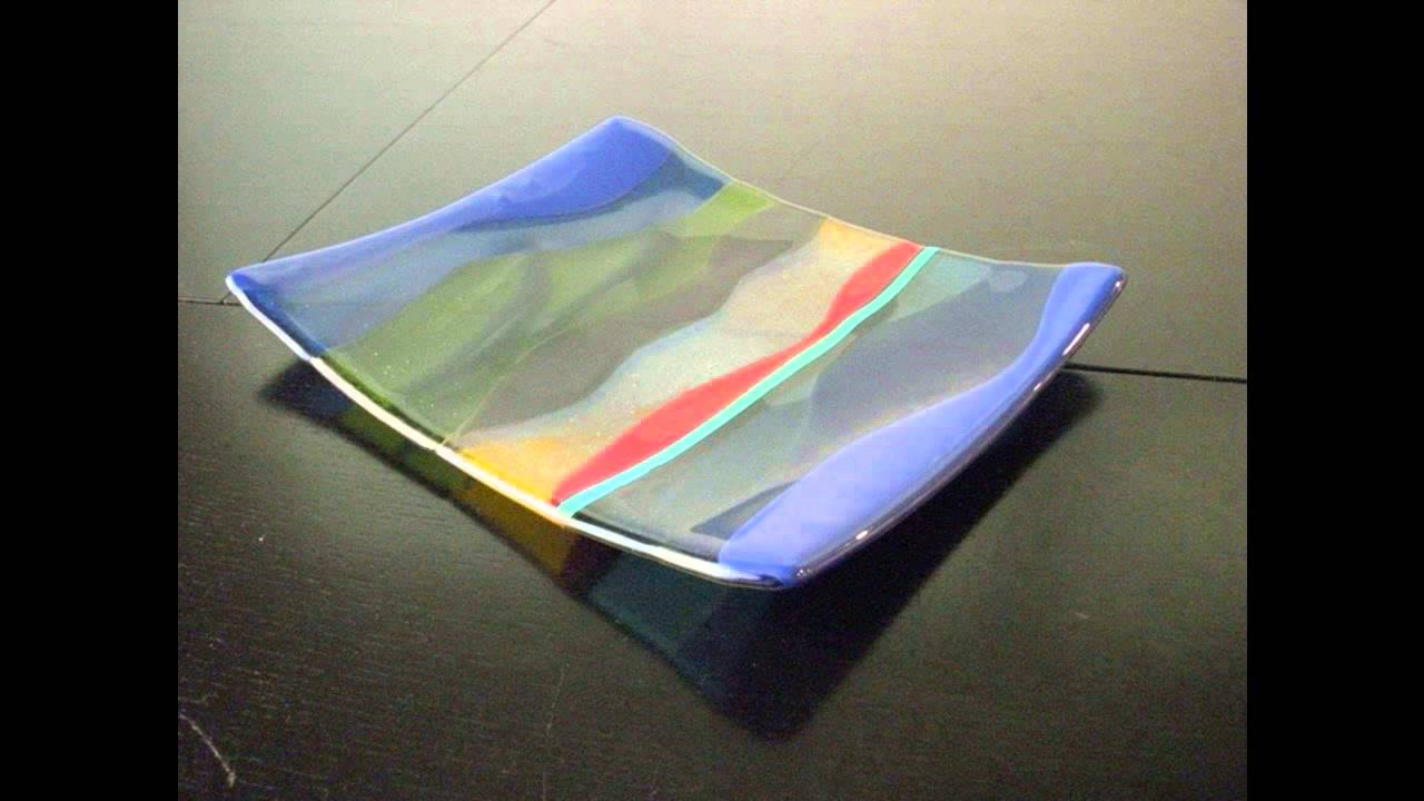 Attractive Fused Glass Plates Nice Design