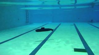 RC 1/72 Submarine Kilo Class Under water view