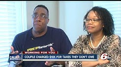 Couple hit with $10,000 tax bill, warrants for taxes they didn't owe