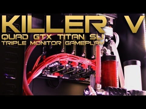 VIBOX Killer V - £9,000 Best Gaming PC 2013 - Triple Monitor Watercooled Overclocked Quad GTX Titan