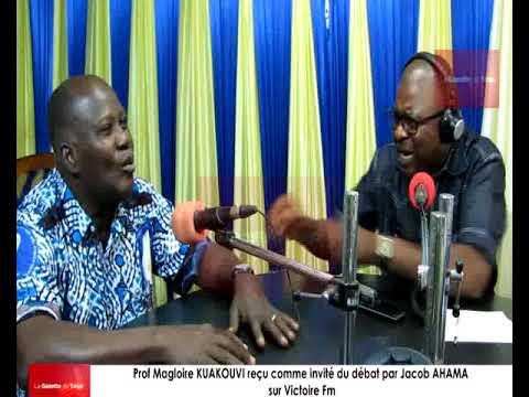 Prof. Magloire KUAKOUVI reçu comme invité du débat par Jacob AHAMA sur Victoire Fm