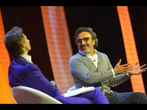 Jess Search speaks with Hamdi Ulukaya at the Skoll World Forum 2017 #SkollWF 2017