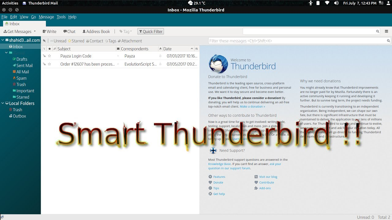 How to customize thunderbird look with Slick Thunderbird Real Theme Updated