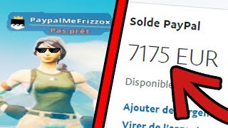 I MIS MY PAYPAL IN PSEUDO ON FORTNITE, here's what happened...