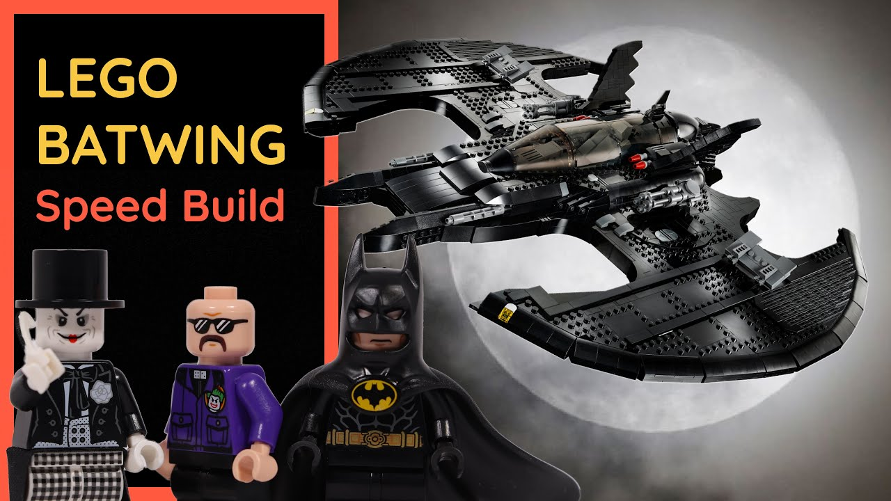 LEGO 76161- BATWING - Speed Build | Exclusive first look at the model being built brick by brick!