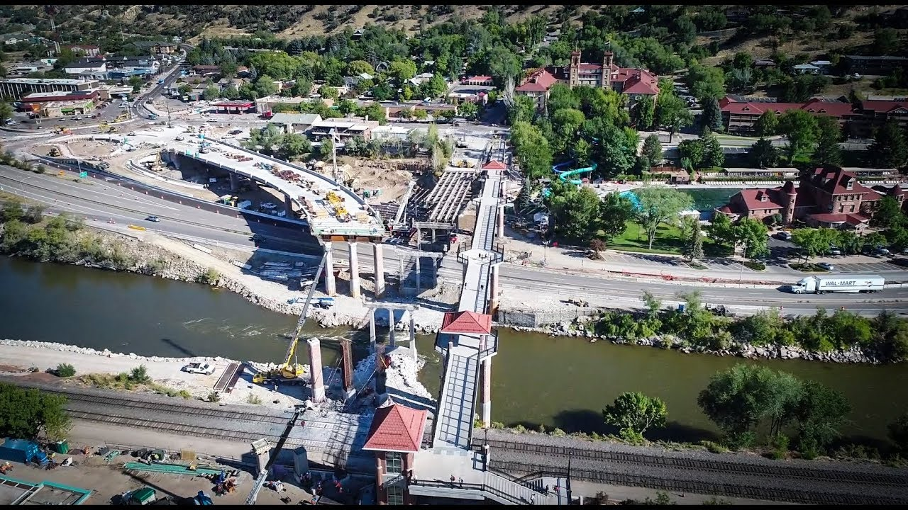 Grand Avenue Bridge Construction Amazing Aerial Footage