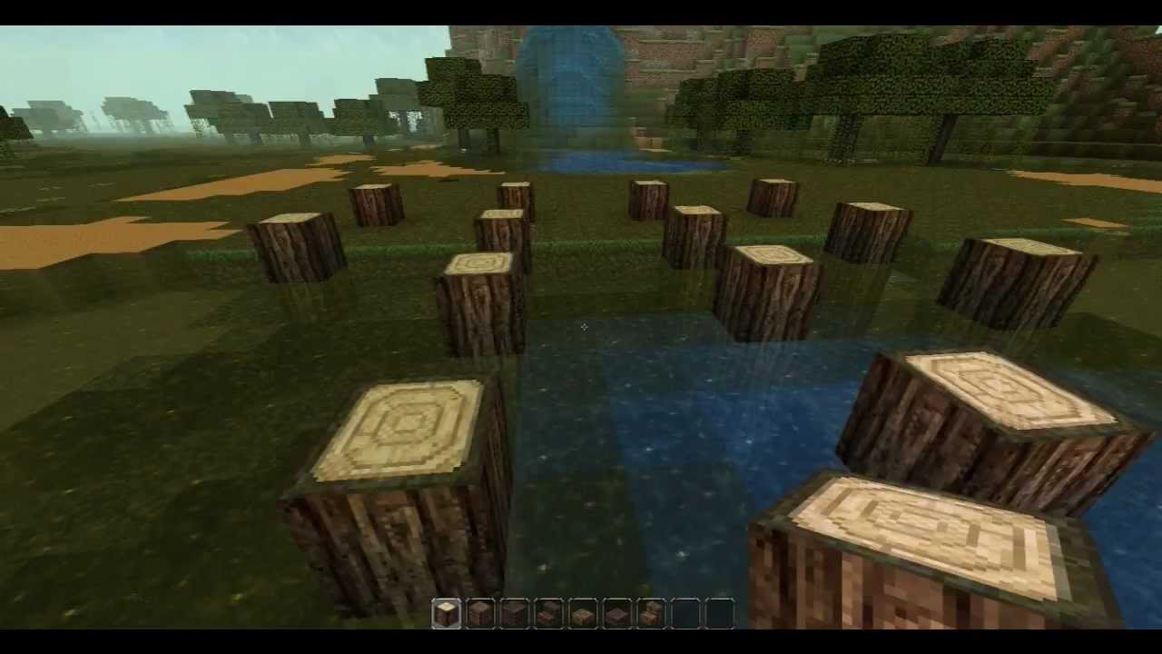 Minecraft Lets Build A Swamp House 1 Youtube
