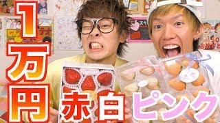 見たこともないイチゴ達を1万円食い切ります!!!