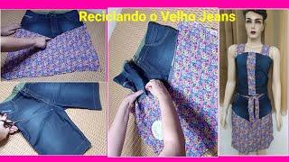 Como Transformar um Jeans Usado em um Conjuntinho