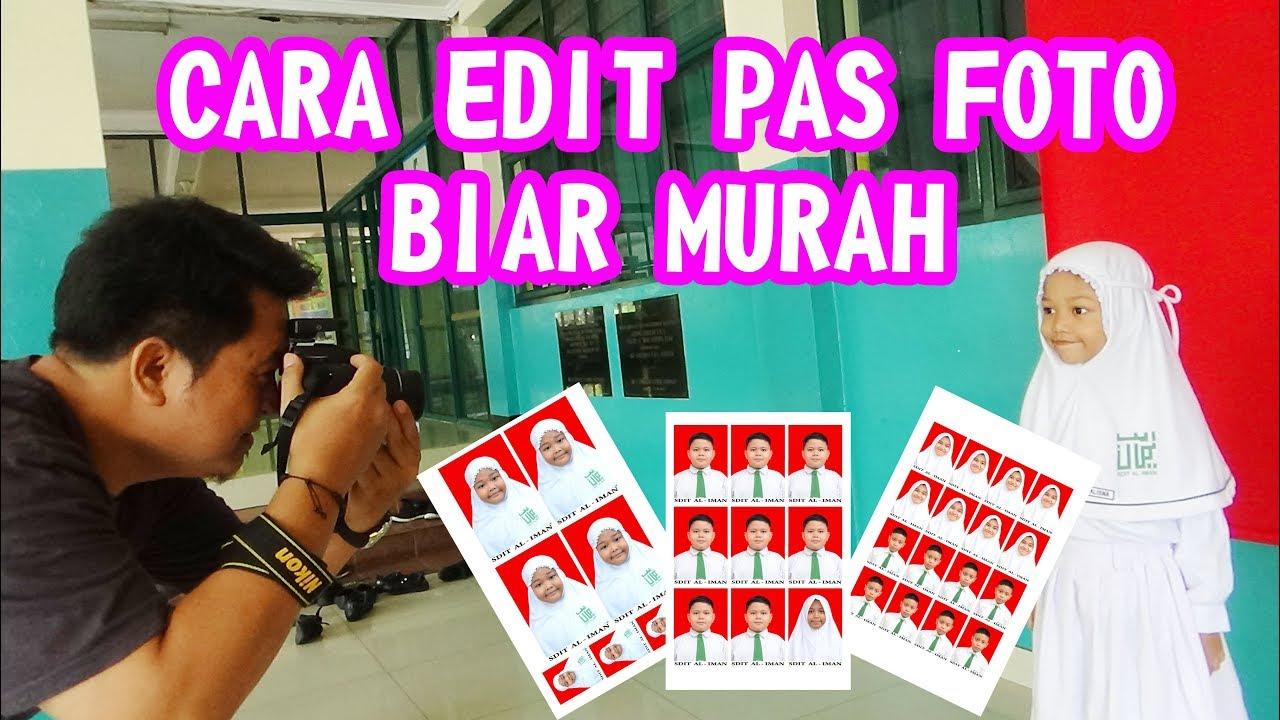 CARA EDIT PAS FOTO - PHOTO PANGGILAN ANAK SEKOLAH - YouTube