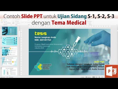 Contoh Slide PPT Ujian Sidang Skripsi Tesis Tema Kesehatan