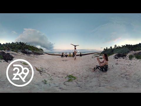 Watch This Fire Dancer in 360   Fashionably Bound-Tulum