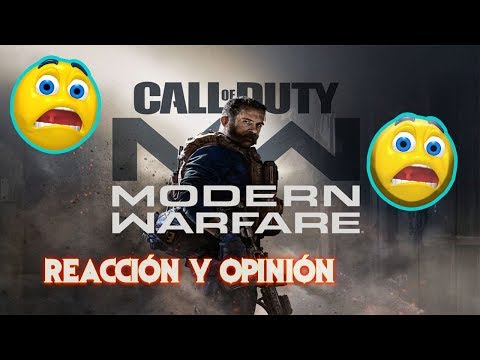 REACCIÓN Call of Duty: Modern Warfare - World Reveal Trailer - ReptiDragonRex