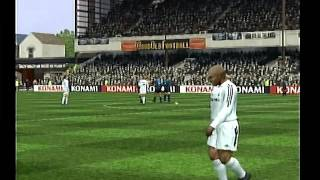 Pro Evolution Soccer 5 Gameplay (PS2) - Inter vs R. Madrid - Adriano, emperador del PES