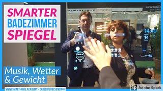 Smarter Spiegel für's Zuhause, Hotel oder Frisör. imm cologne 2020. Muestec