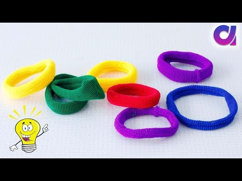 Best out of waste from hair rubber bands crafts idea |  DIY Home Decor | Artkala 401