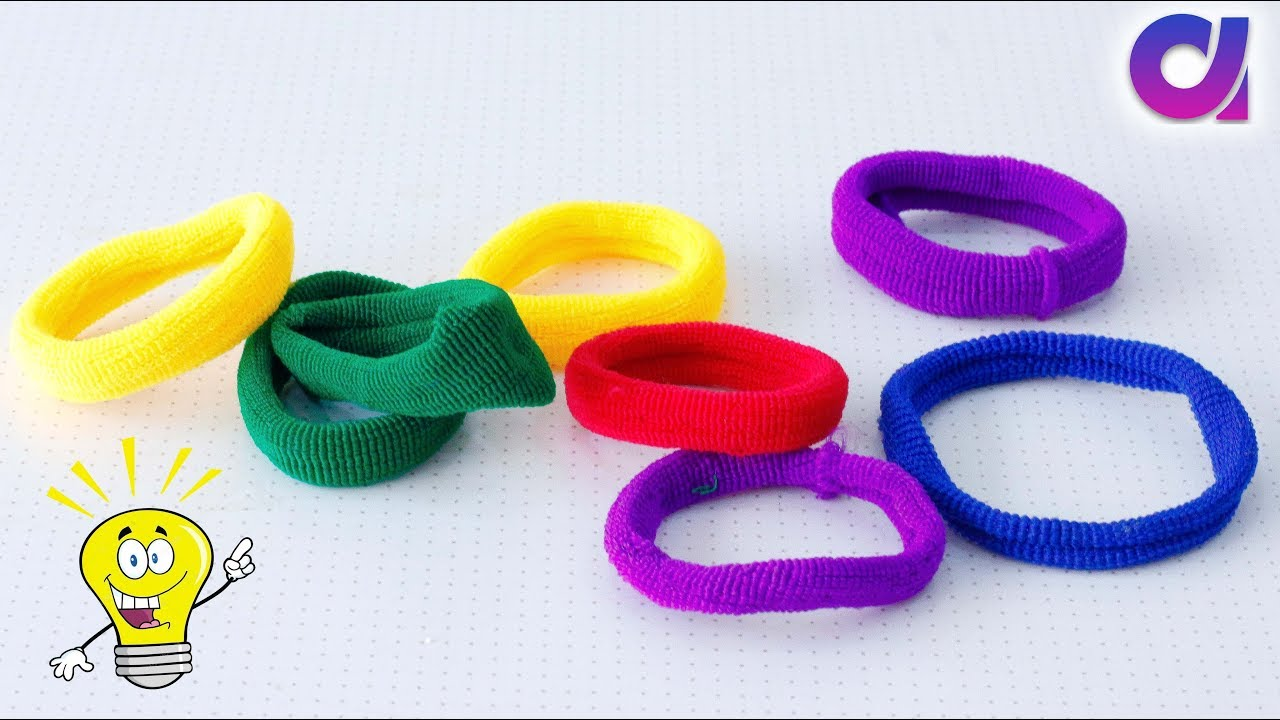 Best Out Of Waste From Hair Rubber Bands Crafts Idea Diy Home