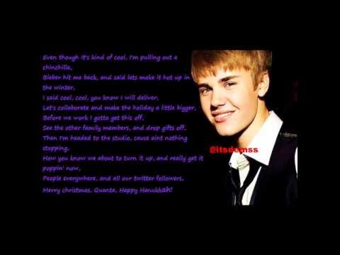 Justin Bieber ft. Busta Rhymes - Drummer Boy / Lyrics on screen 2011