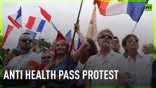 Protest against health pass in Paris