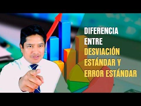 Diferencia entre desviación estándar y error estándar