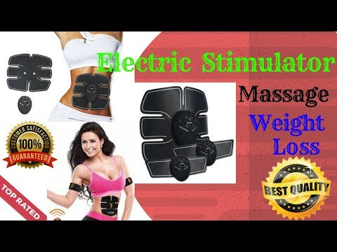 Electric Stimulator Massage Weight Loss Slimming Muscle Massage💥How To Lose Belly Fat🌹Abs Stimulator