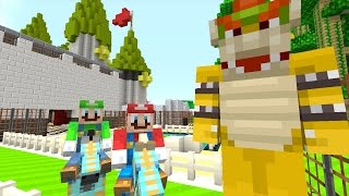 "Minecraft Wii U - NEW Super Mario Adventures - BOWSER""S BOOT CAMP! [15]"