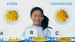 Kids Try Store-Bought vs Homemade Pasta | Epicurious