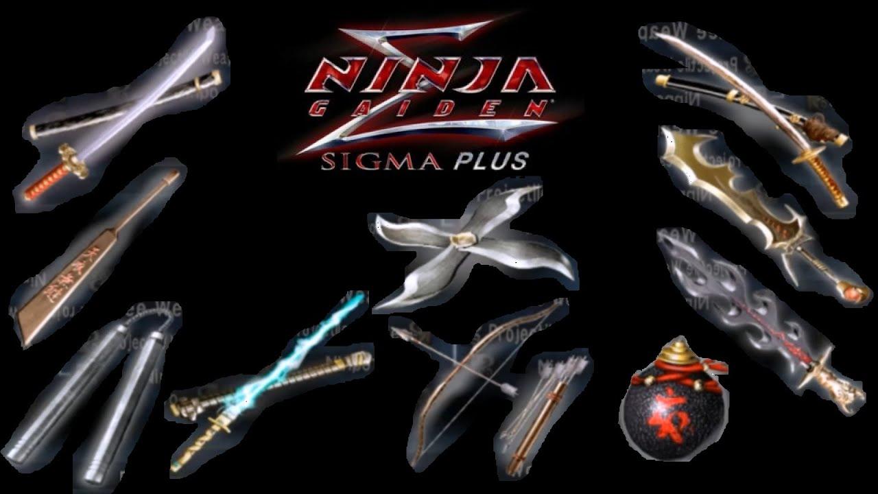 Ninja Gaiden Sigma Plus All Ryu Weapons Youtube