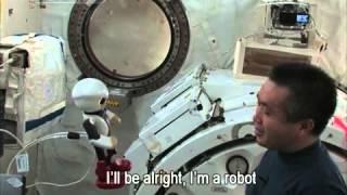 Japanese astronaut bids farewell to robot colleague