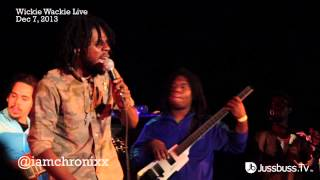Chronixx - Start A Fyah performance @ Wickie Wackie Live - Dec 7 , 2013 - Jussbuss