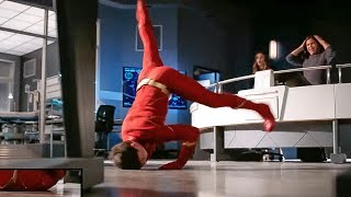 The Flash 7x12 Barry is a breakdancer. Dance scene