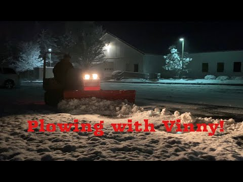 First Snow Storm! (Plowing With The Ventrac)