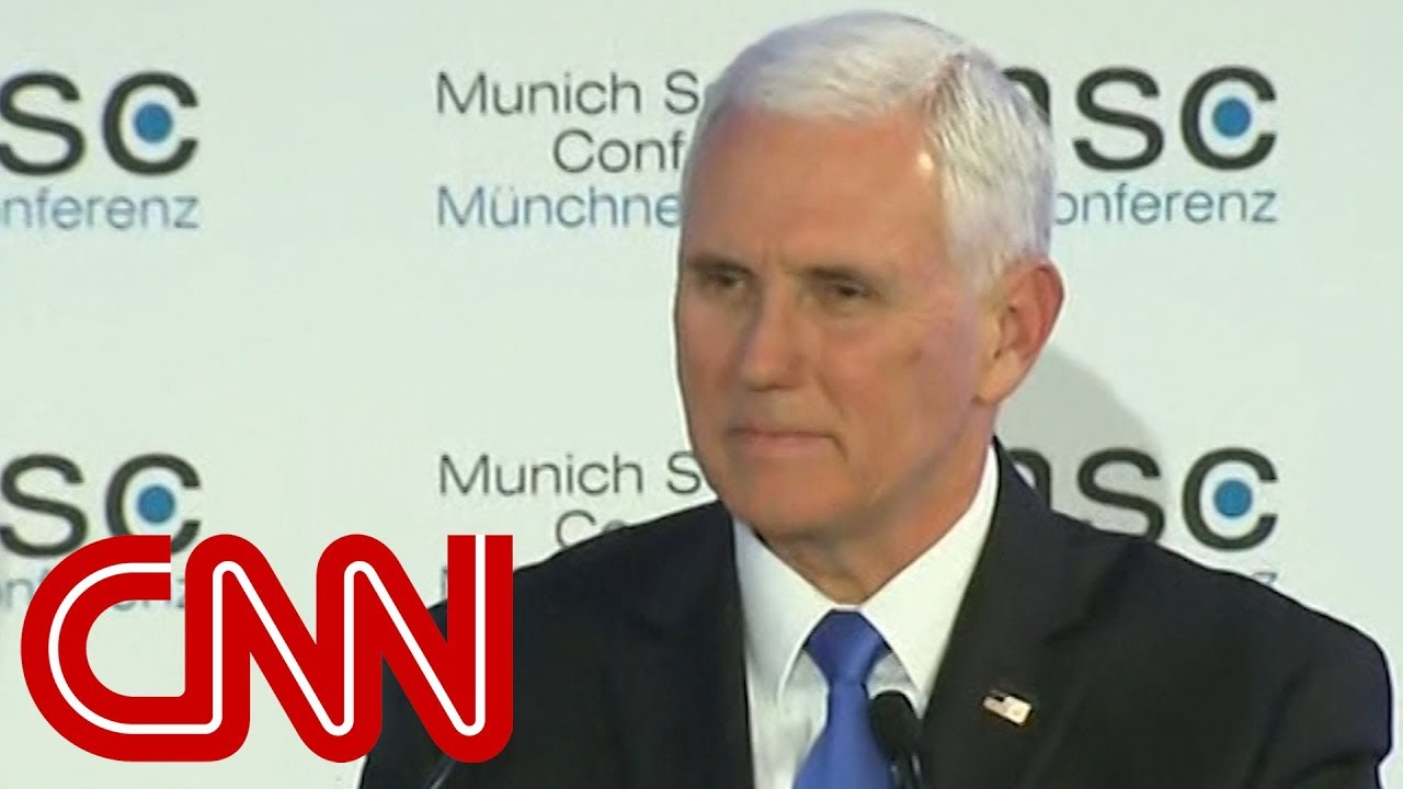 Awkward silence after Mike Pence mentions Trump in speech