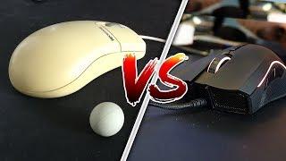 SOURIS GAMER VS. SOURIS A BOULE + RAGE EXTREME EN RUSH FUNCRAFT !