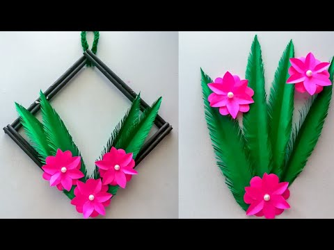 Paper Flower Wall Hanging / Diy paper flower wall hanging / Wall decor / KovaiCraft