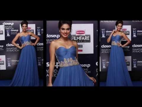 NOYONITA LODH on the Closeup Diamond Attraction Blue Carpet at Filmfare Awards 2015