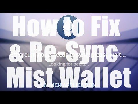 Ethereum Mist Wallet - How to fix when blockchain won't sync up