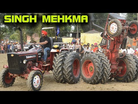 SINGH MEHKMA 🔴 ਸਿੰਘ ਮਹਿਕਮਾ 1575 WALE 🔴 TRACTOR STUNT AT RUPOWALI - 2019