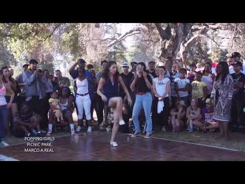 POPPING GIRLS with Afrika Bambaataa  -(''Planet Rock'') Remix  (HD)