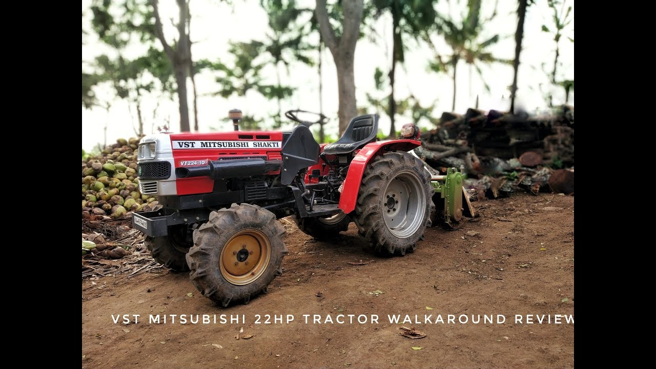 22HP VST MITSUBISHI MINI TRACTOR WALK AROUND REVIEW by GOWTHAM V